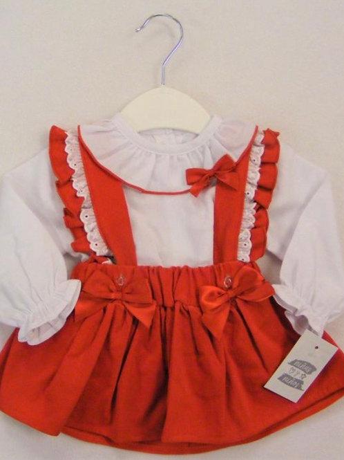 Ninas y ninos red cord bow dress 3-24 Months