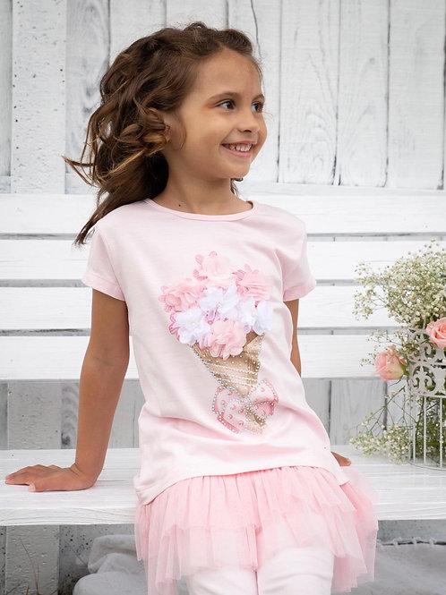 Caramelo flower leggings set 1-9 Yrs