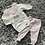 Thumbnail: Cream/pink bow lace collar two piece set 0-18 Months