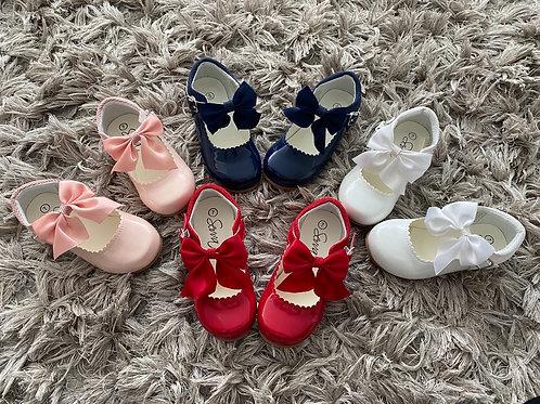Sevva Kristy shoes uk infant 4-2 red/navy/white/pink