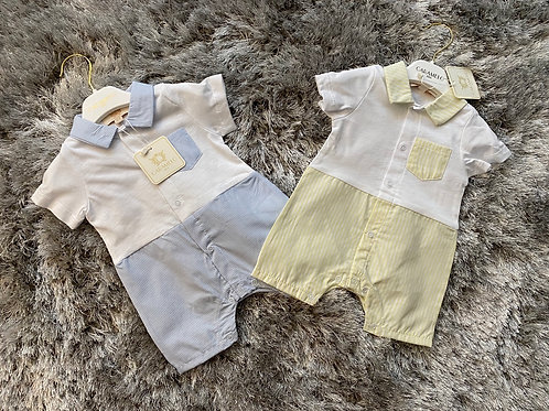 Caramelo boys rompers 0-18 Months