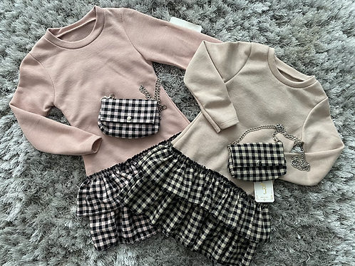 Girls jumper dresses and bag 4-14 Years
