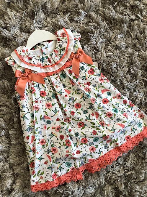 Babylis coral ribbon slot dress 2-6 YRS