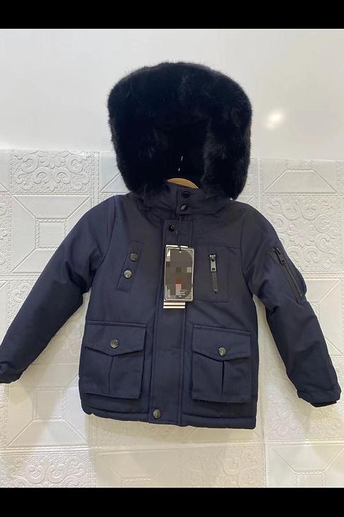 Boys Navy hooded coat 1-5 Years
