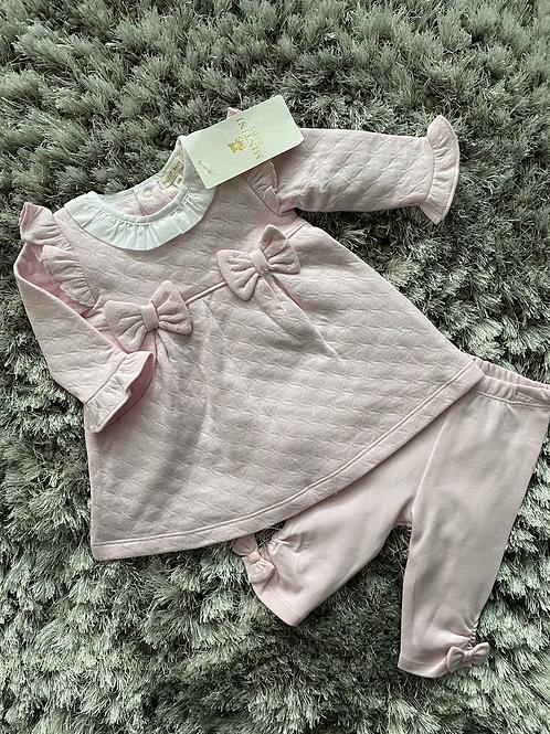 Mintini bow dress/leggings set 3-24 Months