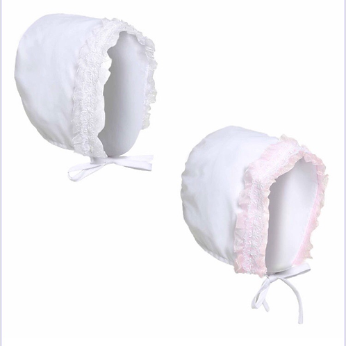 Bonnet with lace 0-6 Months
