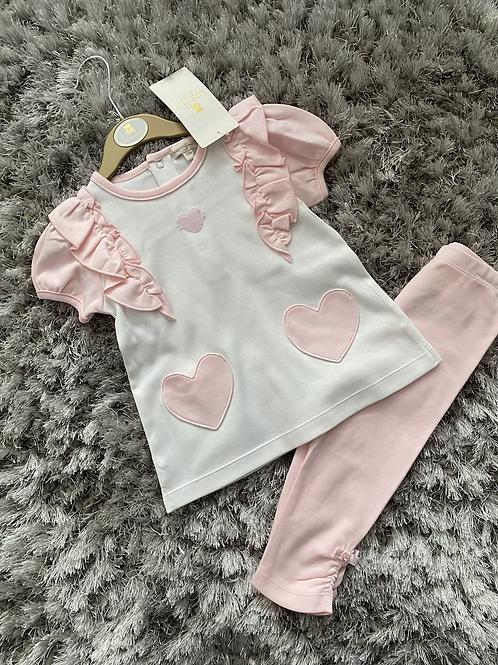 Mintini Baby heart leggings set 3M-5Y