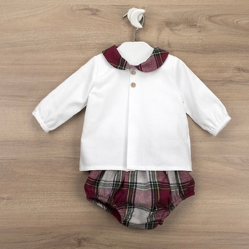 Babidu chequered shirt set NB-6 Months