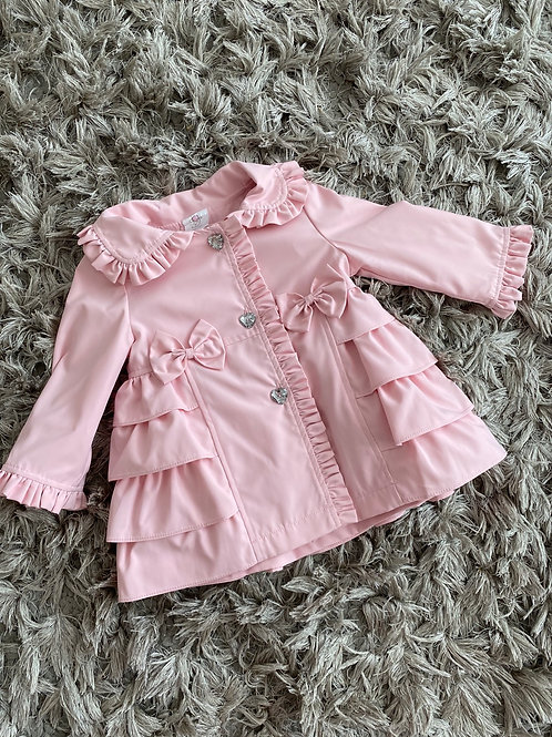 Wee Me ruffled bow jacket 0-3Yrs