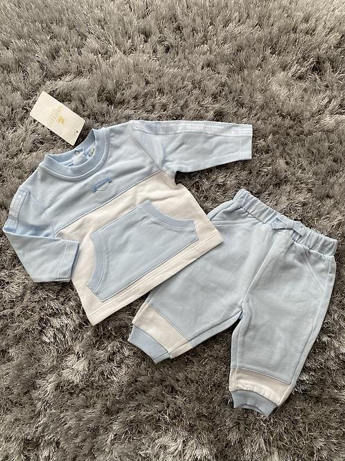 Mintini baby blue/white jogging suit 3M - 5Y