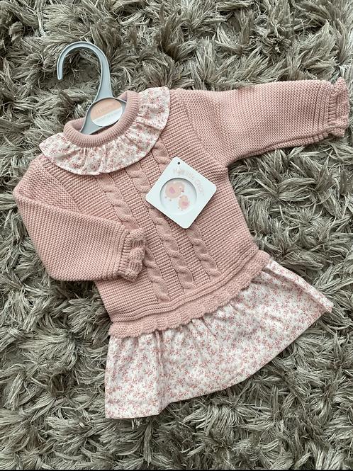 Dusky pink cable knit dress NB - 9 Months