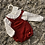 Thumbnail: Ninas y  Ninos dungaree/blouse set red 0-9 Months