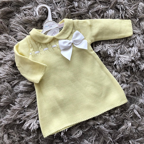 Mabini lemon collared dress 0-18 M
