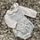 Thumbnail: Babidu white shirt/blue dungaree set