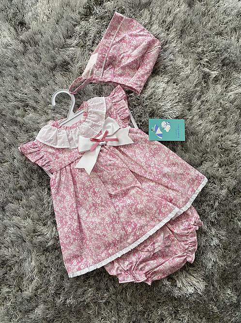 Baby ferr pink floral 3 piece 3-36 M
