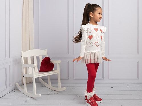 Caramelo heart tulle leggings set 1-9 Yrs