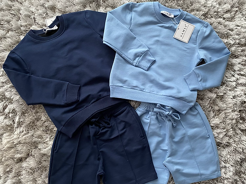 Boys long sleeved polo tops with shorts 2–10 Years