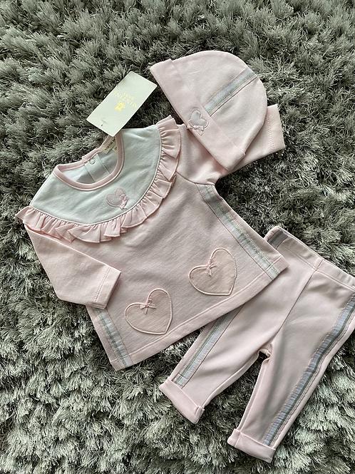 Mintini Heart 3 piece leggings set 3M-5Y