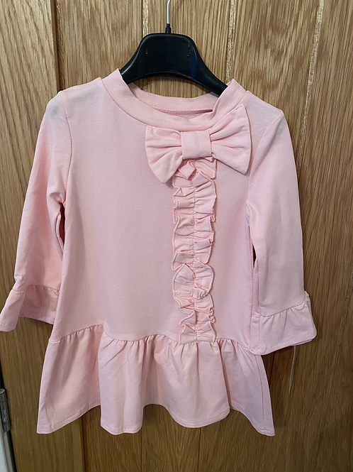 Pink bow ruffle dress ages 1-10 Years