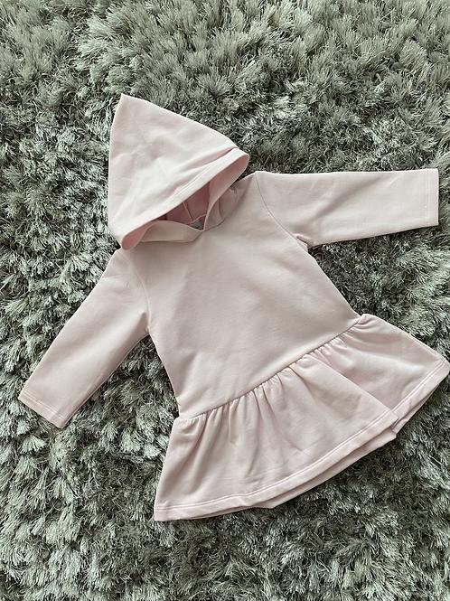 Babidu pink hooded dress 12M-6Y