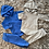 Thumbnail: Boys hooded tracksuits grey/royal blue 6M- 6Yrs
