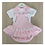 Thumbnail: Laivicar pink gingham dress 0-24 months
