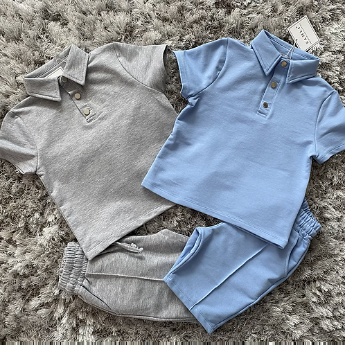 Boys buttoned collared co-ord sets 2-6 Years