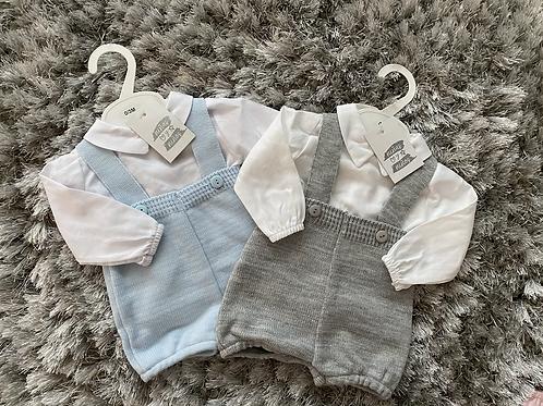 Ninas y ninos dungaree/shirt sets 0-9 Months