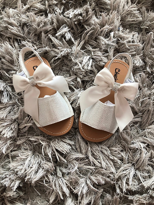 Kelsi silver diamanté bow sandal 3-7
