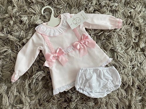 Wee me pink A Line bow dress