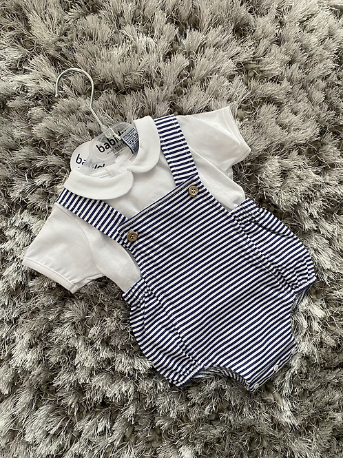 Babidu navy striped romper 3M - 36M