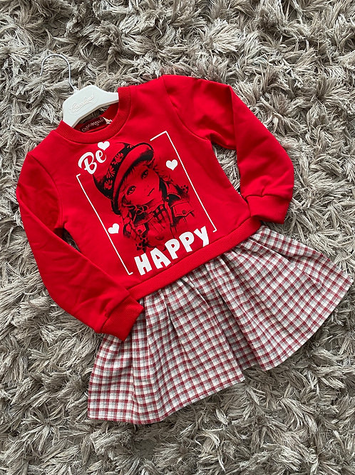 Be happy dress red age 2-5 Years