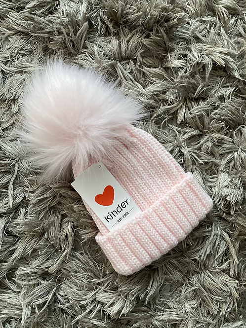 Kinder Pom faux fur hat 0-6 Years