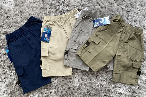 Boys combat cargo shorts ages 4-14 years