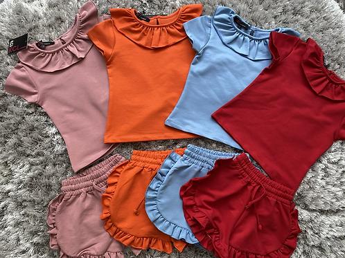 Spanish ruffled shorts set ages 2-10 yrs