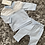 Thumbnail: Mintini baby blue/white/grey trouser set 3M-5Y