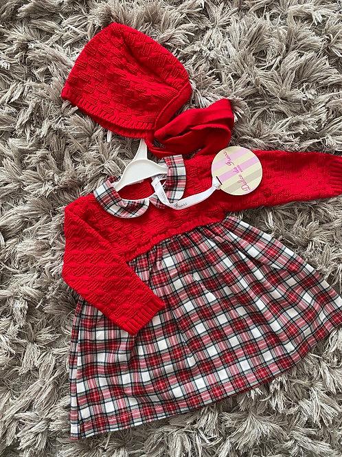 Dulce de Fresa red tartan dress 0-36 Months