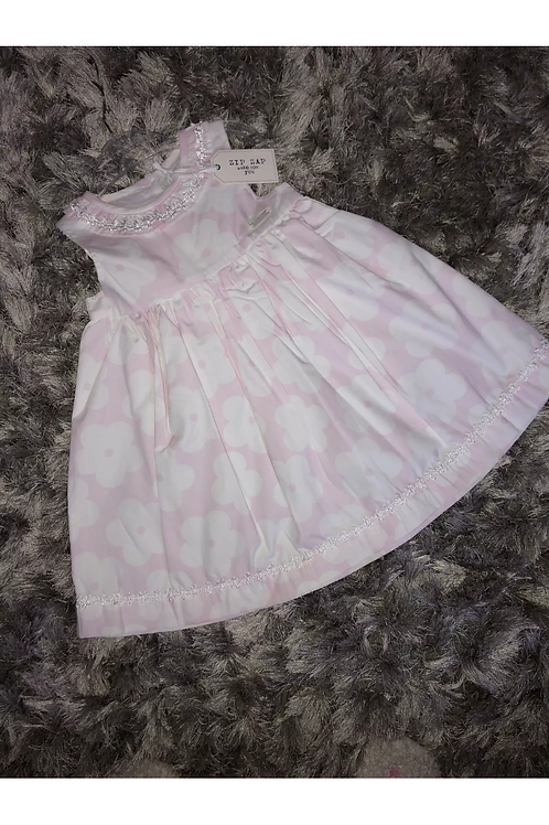 Zip zap pink and white floral dress
