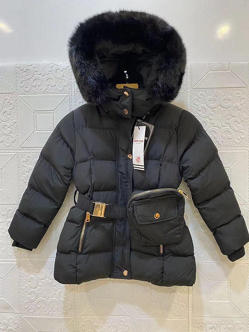 Girls padded faux fur winter coat 4-14 Years