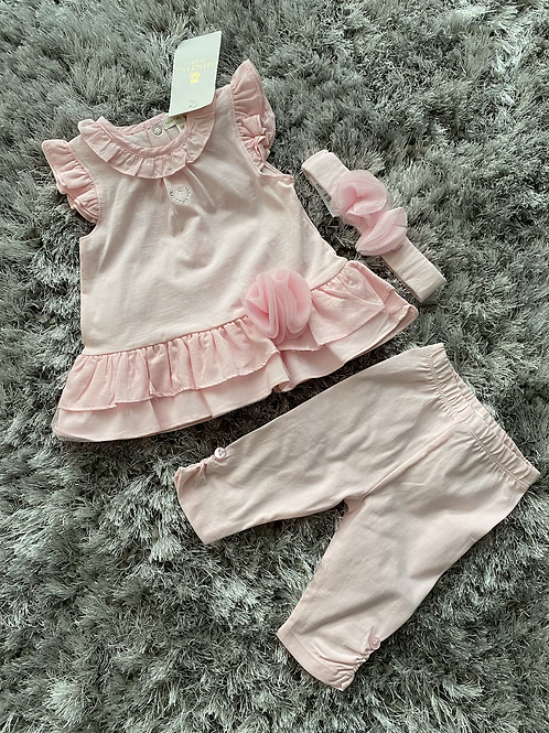 Mintini tuelle flower leggings set 0-24 Months