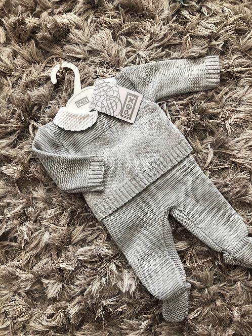 Pex Rowan suit grey Nb - 9 Months
