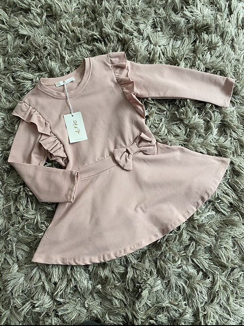 Girls ruffled bow dress Ages 4-14 Yrs