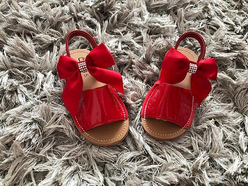 Kelsi red diamanté sandal size 3-7