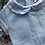 Thumbnail: Blue knitted check shorts aets 0-12 Months