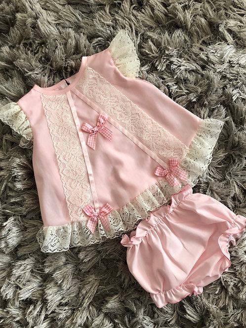 Little Frillies pink angel set 3-12 Months