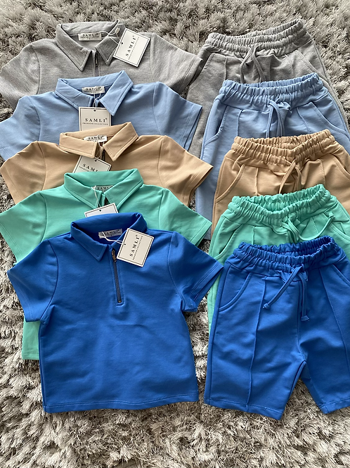 Boys zip up co-ord sets ages 2-10 years