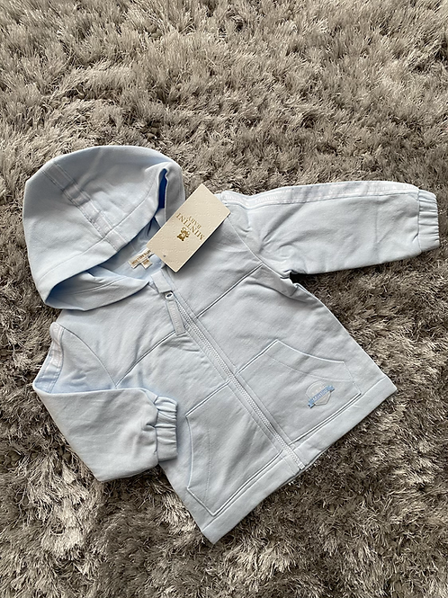 Mintini blue/white hooded summer jacket 3M - 5Y