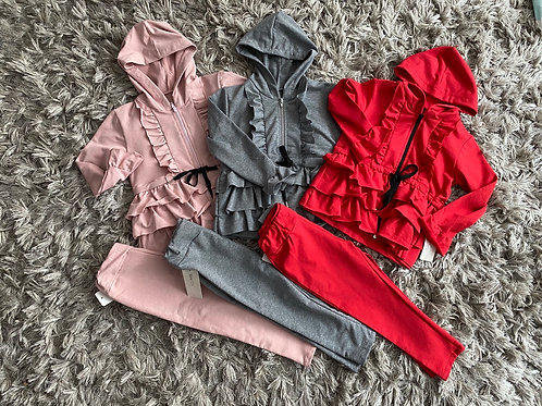 Girls ruffled tracksuits ages 4-14 Years