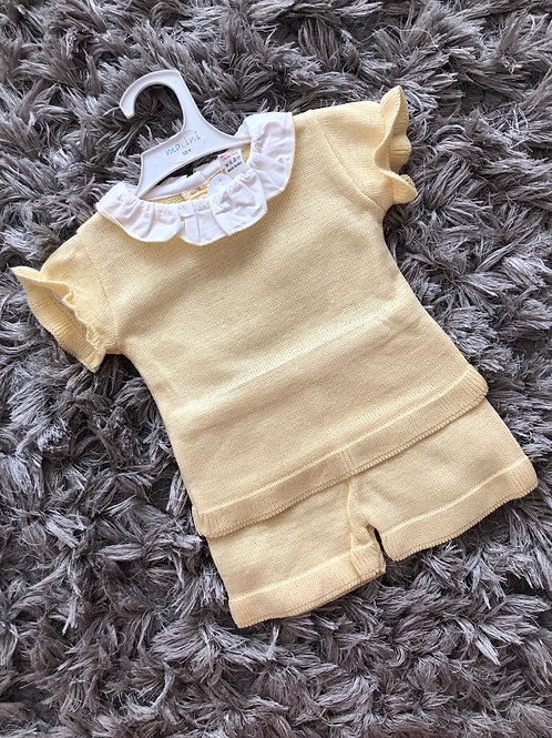 Mabini lemon top and shorts set 1-4 yrs