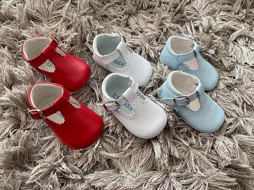 Soft sole T bar baby shoe